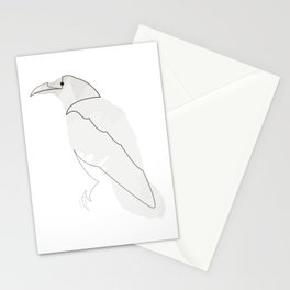 Crow one line Stationery Cards