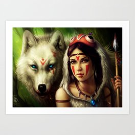 """Princess Mononoke"" Art Print"