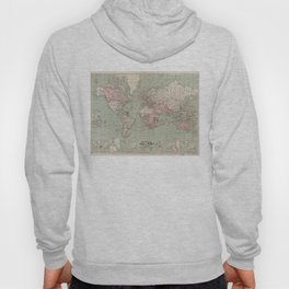 Vintage Map of The World (1918) Hoody