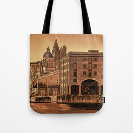 World famous Three Graces (Digital painting) Tote Bag