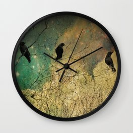 Retro Clouds Wall Clock