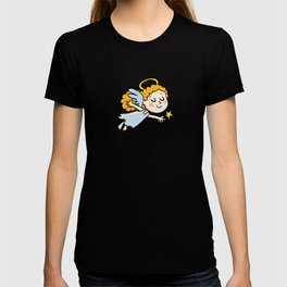angel girl show a star T-shirt