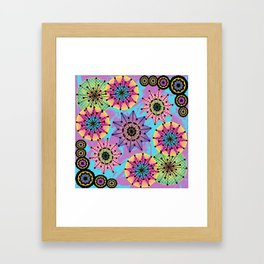 Vibrant Abstract Floral Pattern Framed Art Print