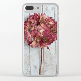 Blush Pink Hydrangea Clear iPhone Case