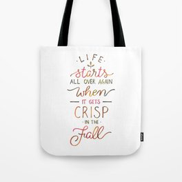 Crisp in the Fall - The Great Gatsby quote Tote Bag