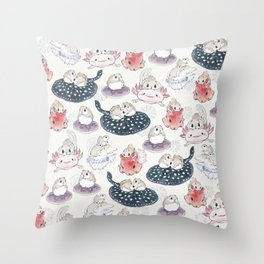 Siberian flying squirrels Throw Pillow