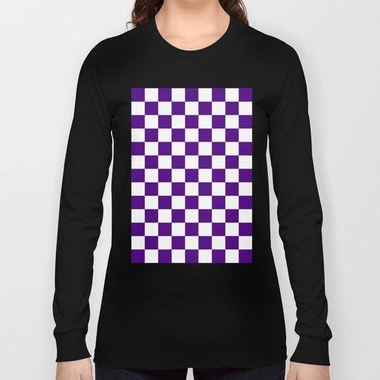 Checker (Indigo/White) Long Sleeve T-shirt