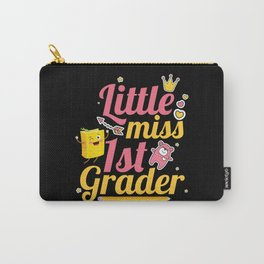 Little Miss 1st Grader Hello First Grade First Day Carry-All Pouch
