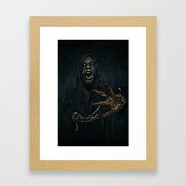 Boogie Horror: Mirror Mask - Bloody Hand Framed Art Print