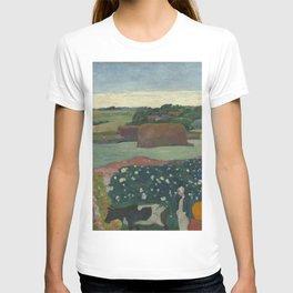Paul Gauguin - Haystacks in Brittany T-shirt