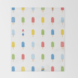 Popsicle - Bright Random #609 Throw Blanket