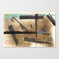 barcelona Canvas Prints featuring Barcelona by Plasmodi