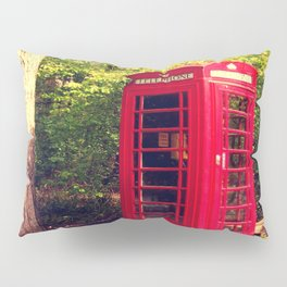 Telephone box in the forest Pillow Sham