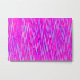WAVY #1 (Purples, Violets & Fuchsias) Metal Print
