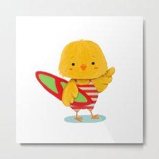 Surf Bird Metal Print