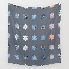 Triniti Snow Crystal Grey Wall Tapestry