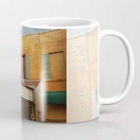 theater Mugs featuring The Crumbling Martin Theater by Little Bunny Sunshine