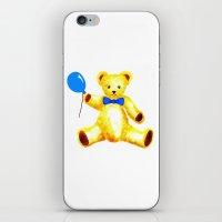 teddy bear iPhone & iPod Skins featuring Teddy Bear by Artisimo