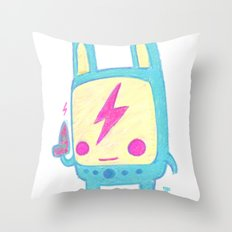 Baby Lemi the Space Wanderer Throw Pillow