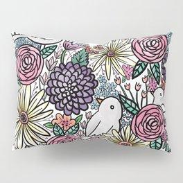 Flowers, Birds & A Heart Pillow Sham