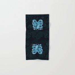 Octopus1 (Blue, Square) Hand & Bath Towel