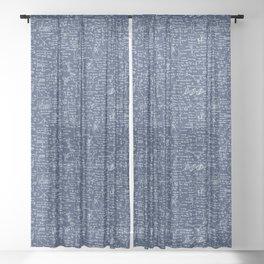 Physics Equations // Navy Sheer Curtain