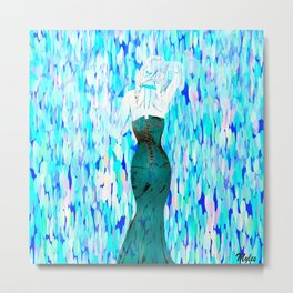She Left In The Blue Rain Metal Print