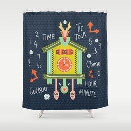 Tic Tock Cuckoo Clock Shower Curtain