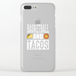 Basketball and Tacos Funny Taco Clear iPhone Case