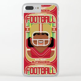 American Football Red and Gold - Hail-Mary Blitzsacker - Aretha version Clear iPhone Case