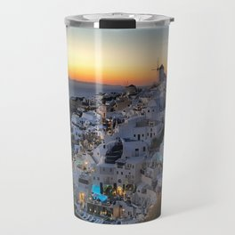 Santorini Oia sunset Travel Mug