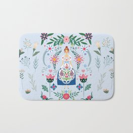 Fairy Tale Folk Art Garden Bath Mat