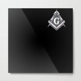 Freemasonry Symbol Pocket Shirt Mason Metal Print