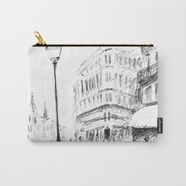 Sketch of a Street in Paris Carry-All Pouch