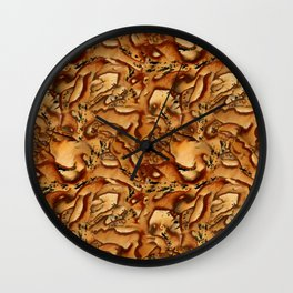 Pattern from a scattering of stones Wall Clock