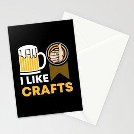 Craft Beer Lover Gift 'I Like Crafts' I Hop I Malt I Lager Stationery Cards