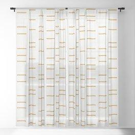 OCHRE LINE Sheer Curtain