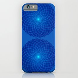 Blue and round Graphic iPhone Case