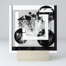 Black &  White world Mini Art Print