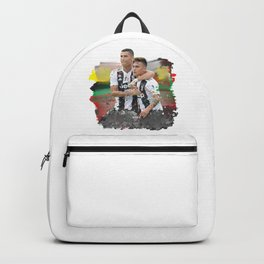 Watercolor Ronaldo and Dybala Backpack