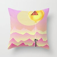 bombs away Throw Pillows featuring Bombs Away by charles lee