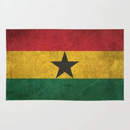 Old and Worn Distressed Vintage Flag of Ghana Rug