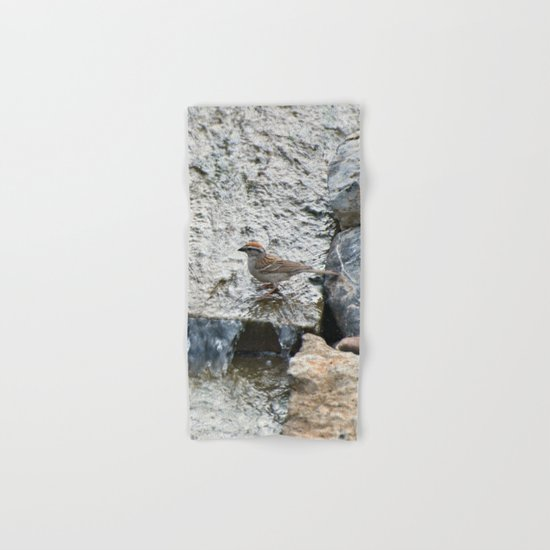 Water (Chipping Sparrow) Hand & Bath Towel