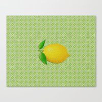lemon Canvas Prints featuring Lemon by Mr and Mrs Quirynen