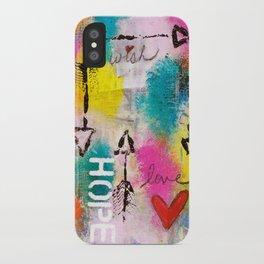 Wish Love Hope iPhone Case