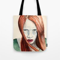 ginger Tote Bags featuring Ginger by Roxie Emm