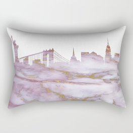 New York Skyline Rectangular Pillow