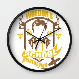 Whedon's school of mi Wall Clock
