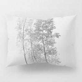 Elegant poplars. Foggy sunrise Pillow Sham
