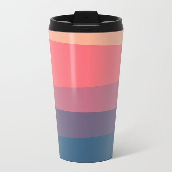 red blue color palette Metal Travel Mug